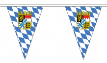 Germany Bavaria State Crest Triangular Flag Bunting - 20m Long - 54 Flags